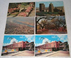 MOBILE, ALABAMA ~ LOT of 6 VINTAGE Postcards / INCLUDES Mobile TRAVEL LODGE