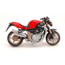 MV AGUSTA BRUTALE ORO 1:18 Burago Moto Die Cast Modellino