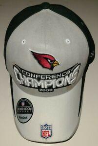 Reebok Arizona Cardinals 2008 AFC Conference Champions Locker Room Hat Brand New