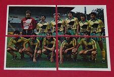 127 128 129 130 FC NANTES SAUPIN CANARIS FOOTBALL BENJAMIN EUROPE 1980 PANINI