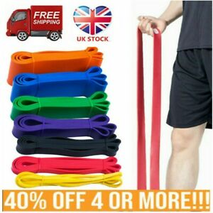 Resistance Bands Pull Up Home Gym Exercise Tube Heavy Duty Strength Training UK
