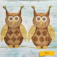 4 x Paper Napkins Pensive Owl for Decoupage Crafting and Table 34