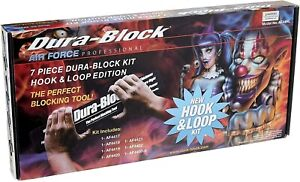 Dura-Block AF44HL Hook & Loop Black 7-Piece Sanding Block Set Kit NEW