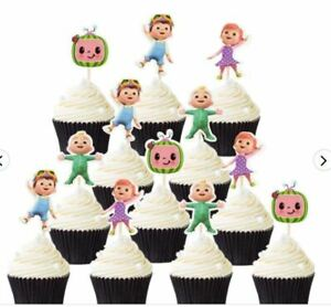 24 Pcs Set Cocomelon JJ Cake Topper Birthday Cake Decoration for Birthday