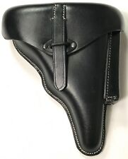 WWII GERMAN WALTHER P38 PISTOL HARD SHELL HOLSTER- BLACK LEATHER