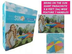 BRING ON THE SUN GIANT PARACHUTE 9.8 FEET (3m) WIDE FEATURE 7 HANDLES