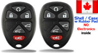 2x New Replacement Keyless Remote Key Fob For GMC Chevy Cadillac - Shell Only