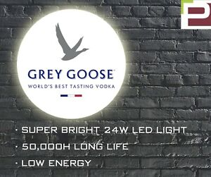 Grey Goose Vodka LED Wall Light, WALL MOUNTED SIGN for Bar, Shop, Man Cave etc