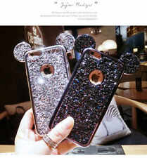 Glitter Sequins Cute Mickey Mouse Ear Soft TPU Back Case Shockproof Phone Cover