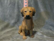 Rhodesian Ridgeback Plaster Dog Statue Hand Cast And Painted By T.C. Schoch