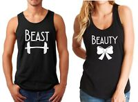 Tank Top Beast & Beauty Couple Shirts Funny Matching T-Shirts Valentine's Day