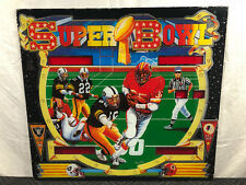Bell Games Super Bowl Pinball Machine Game Backglass Raiders Red Skins