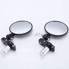 Pair Motorcycle Folding Bar End Mirrors Black Aluminum FOR Ducati Aprili YAMAHA