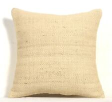 Indian Kelim Jute Cushion Cover Hand Woven Rug Throw Rustic Pillow Cases 1108