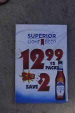 Michelob Ultra Light Beer 12 Pack $12.99 Sale Sandwich Vinyl Sign 11x17