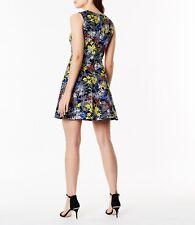 KAREN MILLEN FIT & FLARE FLORAL DRESS UK 10 RRP £150