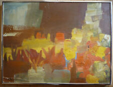 RARE, BARBARA A. WOOD LISTED ABSTRACT ABSTRACTION 60s California EXPRESSIONISM