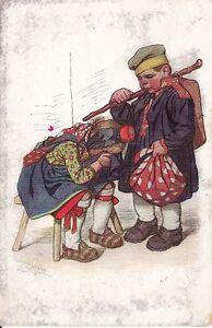 "uralte AK, Motiv Künstler Hessenkarte, Karte Nr. 7, ""Abschied"", Feldpost"