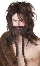 Brown Viking Costume Wig and Beard