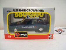 "Alfa Romeo 75 ""CARABINIERI"", 1985, blue, Bburago 1:24 (Made in Italy), OVP"