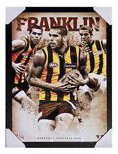 AFL - Hawthorns Lance Franklin Poster - FRAMED  READY TO HANG