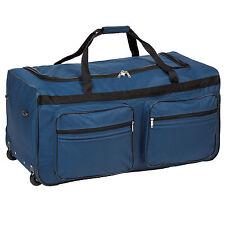 Sac de voyage XXL valise trolley légère sport bagage à roulettes 160 litres bleu
