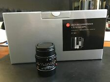 Leica APO-Summicron-M 50mm f/2 ASPH. Lens - 11141 Mint including filter
