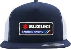 Factory Effex Suzuki Factory Snapback Hat Cap Motorcycle Dirt Bike