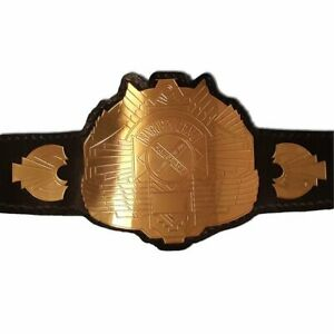 King of Pancrase Heavyweight Champion Wrestling Belt Leather Replica Metal Plate