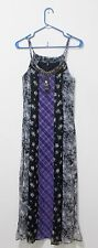 NEW Jessica Simpson Floral Maxi Dress Sz S Multi-Color Spaghetti Straps