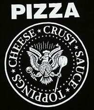 """Punk Rock Pizza"" Cheese Crust Sauce Men's Medium Shirt Teevillain"