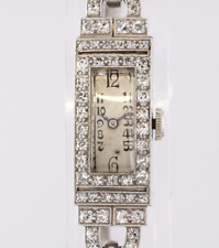 Art Deco Diamond Ladies Wristwatch Platinum