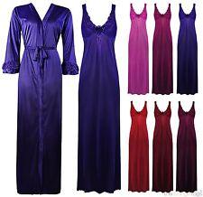 Satin Long Sleeve Nightdresses Shirts Women's Lingerie & Nightwear