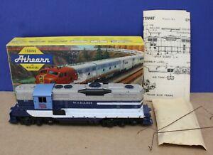 Athearn 1058 HO Yellow Box GP9 Dummy Locomotive Wabash  Boxed 1960
