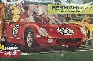 Monogram PC102 1/24 Scale #22 1964 Ferrari 275P Plastic Model Race Car Kit