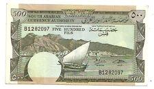 Yemen Dem. Rep.  500 fils  1965     qFDS  qUNC  Pick 2 b    Lotto 3471