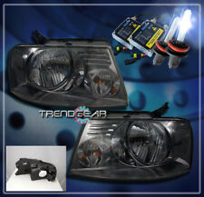 2004-2008 FORD F-150 PICKUP CRYSTAL HEADLIGHTS+HID KIT LAMP SMOKE 2005 2006 2007
