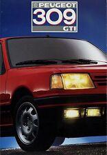 Peugeot 309 GTI folleto 1987 auto folleto folleto brochure brosjyre broschyr