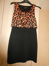 Designer AX PARIS Sleeveless Dress: Partial Leopard Print Bodice: BNWOT: Size 12
