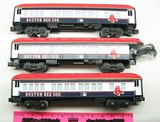 Lionel ~ 3 Boston Red Sox  Passenger cars ~ Major League Baseball