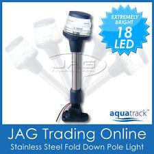 12V 18-LED STAINLESS STEEL FOLD DOWN ANCHOR LIGHT-Navigation Stern/Pole/Boat/Nav