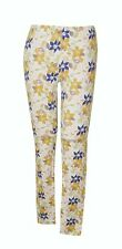 "NEW! AUTH F21 WOMEN'S PRINTED LEGGINGS/ PANTS (YELLOW FLORALS, LARGE/ W30-32"")"