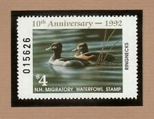 NH10 - New Hampshire State Duck Stamp.  Single. MNH. OG.