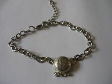 Misty Crystal Ball Fortune Teller tg1 Fine English Pewter on a Anklet / Bracelet