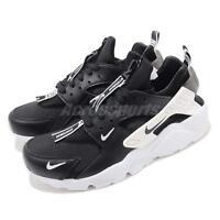 Nike Air Huarache Run PRM Zip Black White Men Casual Shoes Sneakers BQ6164-001