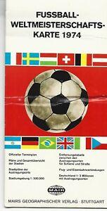 Fussball-Weltmeisterschafts-Karte  WM 1974, Mair, Muster, Rarität