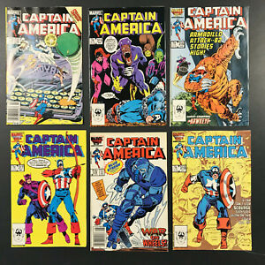 Captain America # 314, 315, 316, 317, 318, 319 (1986)  Lot of 6 issues