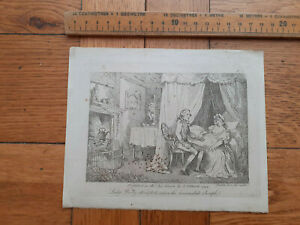 1792 Thomas Rowlandson etching Lady Booby attempts to seduce immaculate Joseph