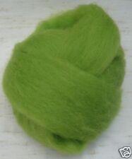 "Lime grinch green Wool roving 1 oz / 28 grams / 50"""