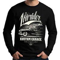 Velocitee Mens Long Sleeve T-Shirt Lowrider Rockabilly Greaser Mercury V297
